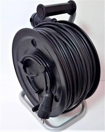 Электрический удлинитель на катушке без з/к с выносной розеткой 25м (ПВС 2*1,5)ЛІДЕР ЕНЕРГО КОМПЛЕКТ, фото 2