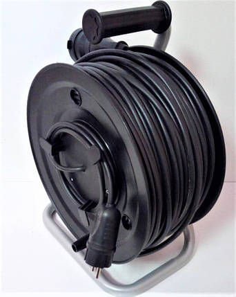 Электрический удлинитель на катушке з з/к с выносной розеткой  90м (ПВС 3*1,5)ЛІДЕР ЕНЕРГО КОМПЛЕКТ, фото 2
