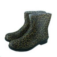 Полусапоги женские резиновые Леопард