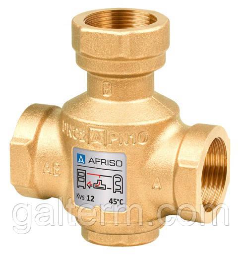 Триходовий термічний клапан Afriso ATV 554 DN 32 х 50°С Rp 1'1/4