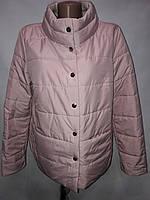 """Button"", демисезонная куртка, две стороны 52-696Пудра/беж"