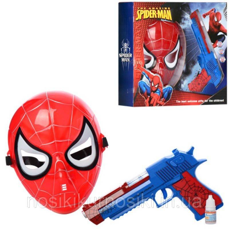 Игровой набор супергероя Человек Паук маска + пистолет