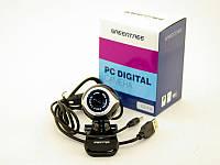 Web камера Greentree GT-V16 Black, 0.3 Mpx, 640x480, USB 2.0, встроенный микрофон