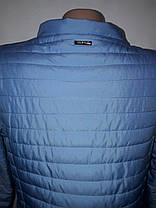 """""""Button"""", демисезонная куртка 58-562 голубой , фото 3"""