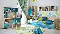 Детская комната серии Акварели бирюзовые