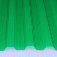 ПВХ лист  SALUX  2 м х0,9 м х 0.8 мм зеленая прозрачная трапеция