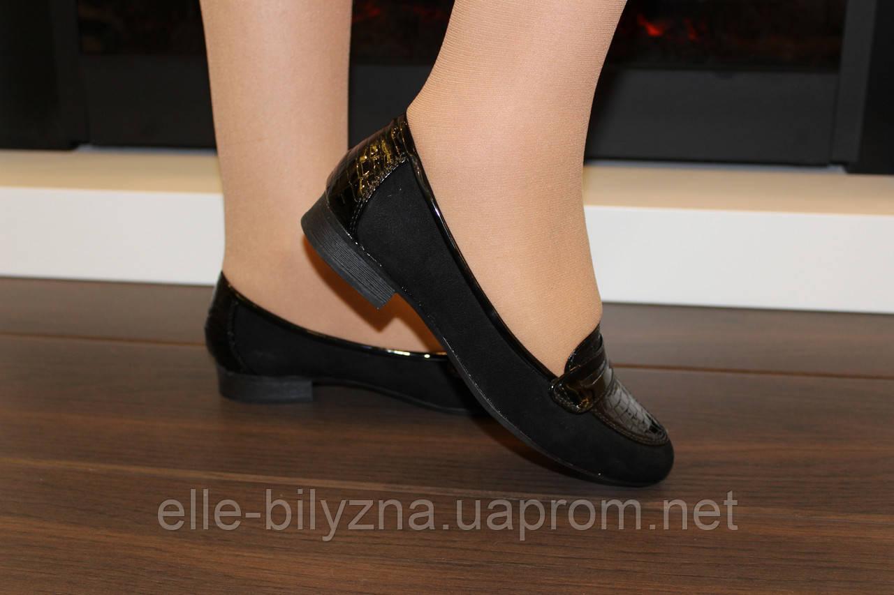 Туфли женские черные замшевые Т733 р 36