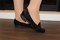 Туфли женские черные замшевые Т733 р 36, фото 1