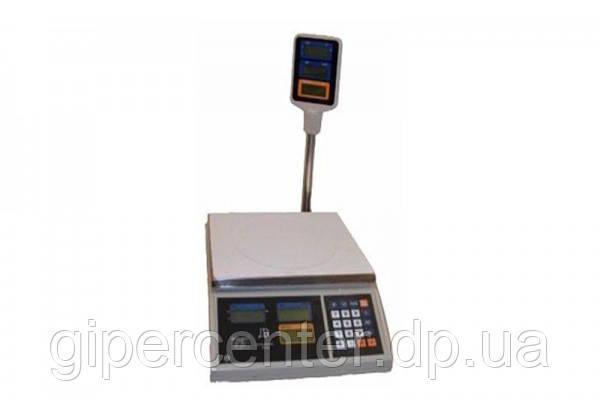 Весы торговые ВТЕ-Центровес-30Т2-ДВ-(ЖК) до 30 кг, со стойкой