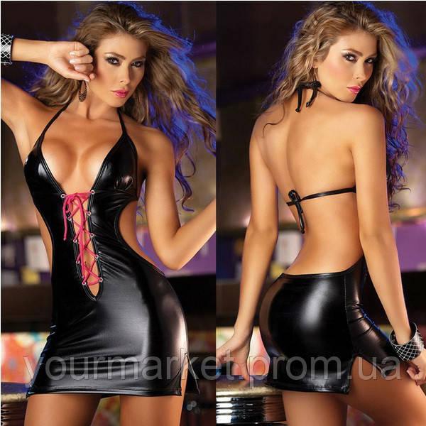 Платье виниловое Бьянка