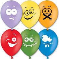 """Воздушные шары Эмоции 12"""" (30 см), 50 штук в упаковке, фото 1"""