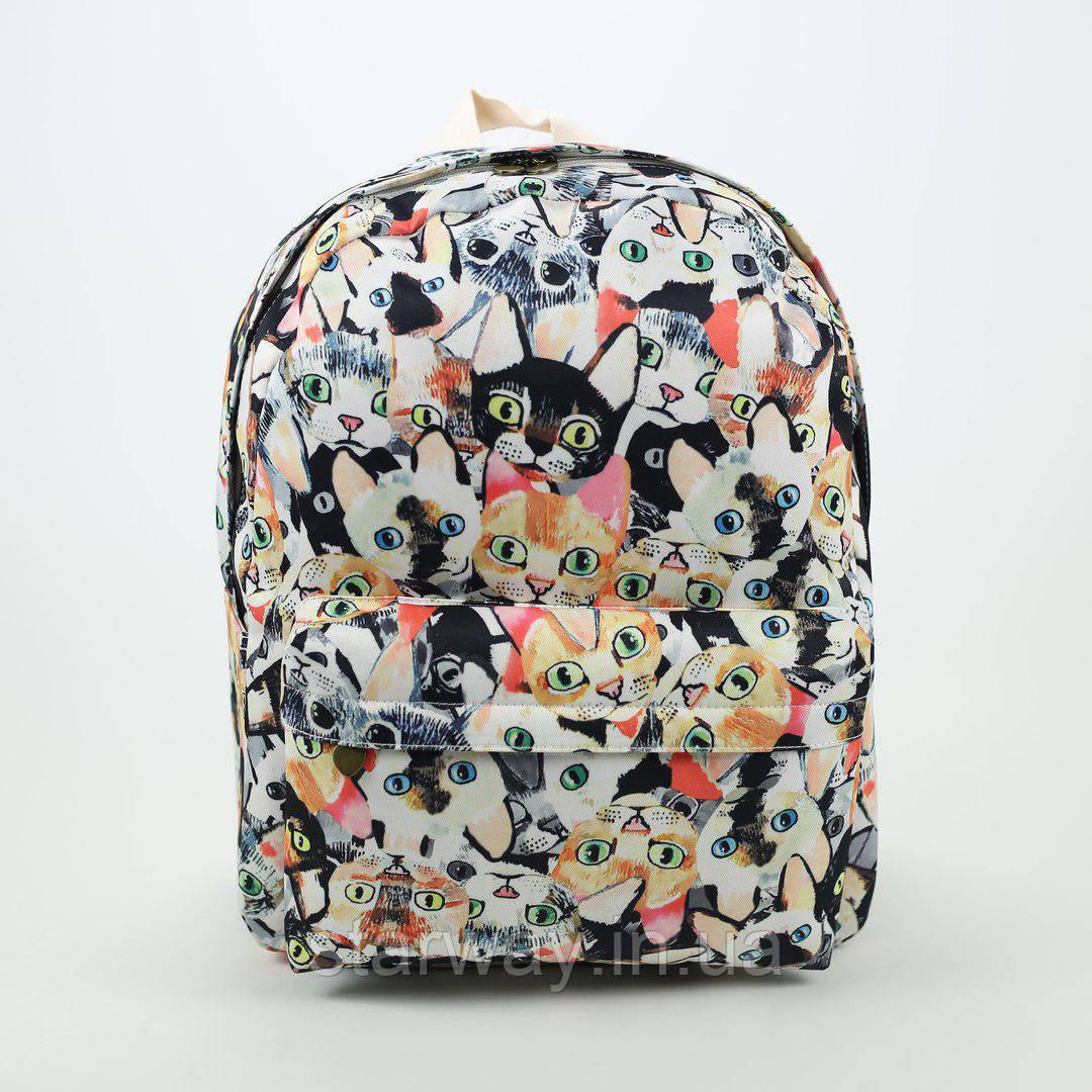 Рюкзак стильный Wacse kittens logo