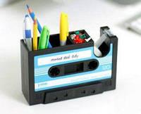 Подставка для канцелярии кассета черная ретро