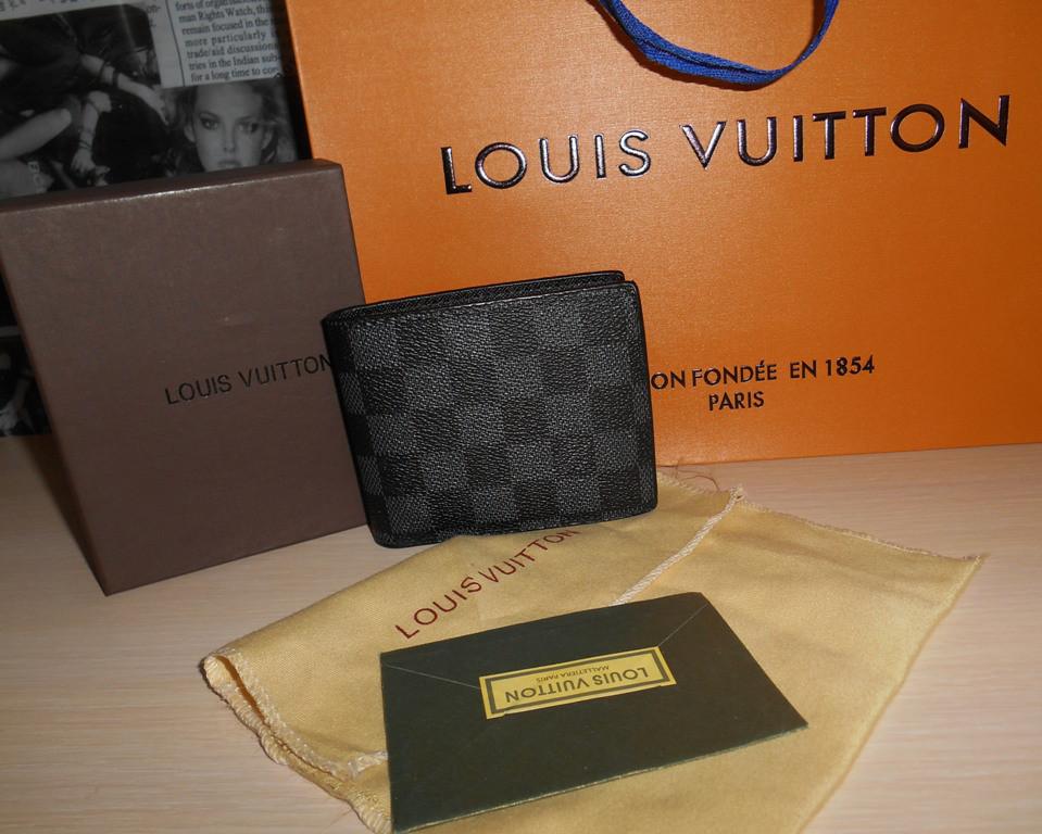 Кошелек, портмоне, бумажник мужской Louis Vuitton, кожа, Франция ... e7c9bfc4dec