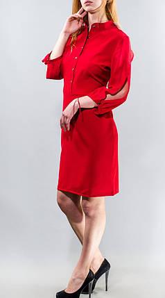 """Нежное женское платье ткань """"Хлопок+стрейч"""" рукава с разрезиками """"шифончик"""" 48 размер батал, фото 2"""
