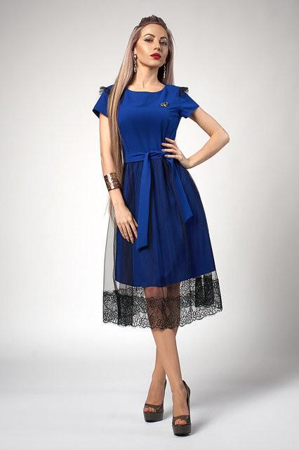 Платье молодежное с фатиновой юбкой