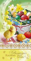 Упаковка Пасхальных поздравительных открыток №Е3705 укр.