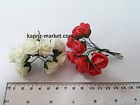 Декор, роза из фоамирана, диаметр 2 см, цена за 1 цветочек