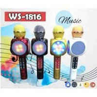 Караоке микрофон WSTER WS-1816 (USB, microSD, AUX, FM, Bluetooth)
