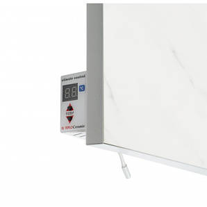 Керамический обогреватель с терморегулятором мрамор 550 Вт.11 м.кв. Теплокерамик TCM-RA 550