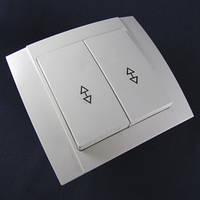 Выключатель двухклавишный проходной внутренний