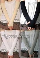 Митенки длинные до плеч (перчатки без пальцев mit1)