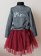 Платье костюм на девочку,кофта и юбка,нарядный, фото 1