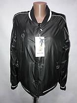 """""""Button"""", демисезонная куртка(бомбер) 56-533 черный, фото 3"""