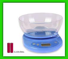 Весы кухонные Domotec с чашей 5 кг 2 х ААА
