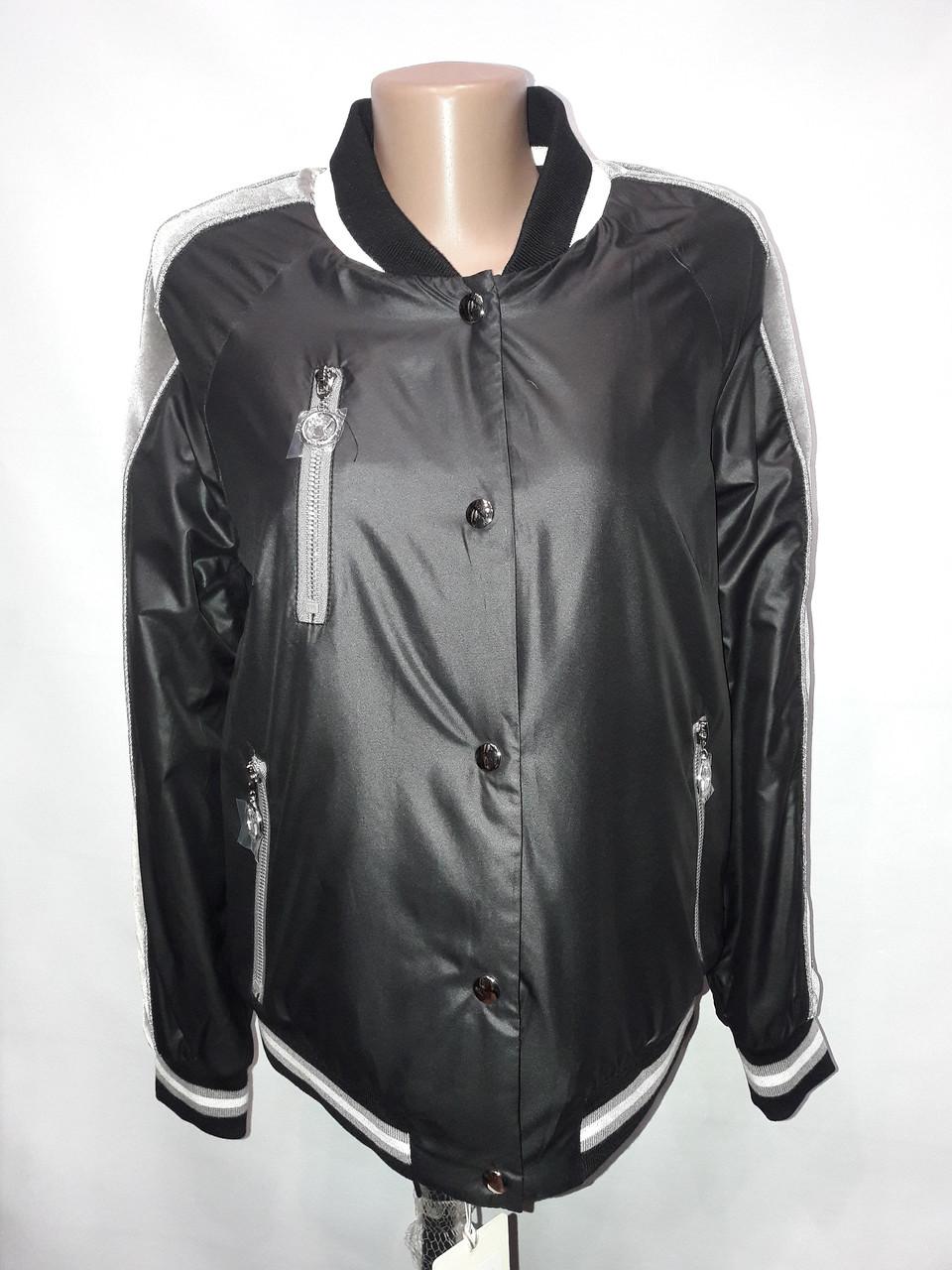 """""""Button"""", демисезонная куртка(бомбер) 56-533 черный"""
