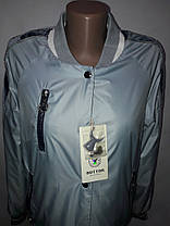 """Button"", демисезонная куртка(бомбер) 56-533 серая, фото 2"