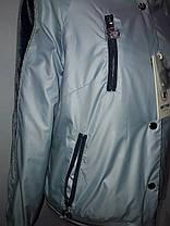 """Button"", демисезонная куртка(бомбер) 56-533 серая, фото 3"