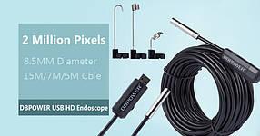 Инспекционная ВЕБ-камера эндоскоп 15м х 8,5мм