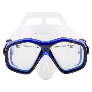 Маска для плавання в коробі дитяча Dolvor M278S junior синя