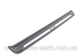 Внутренние накладки на пороги хромированные на BMW  E81/ E82 Новые Оригинальные