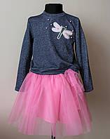 Платье костюм на девочку,кофта и юбка,нарядный 7-12 лет
