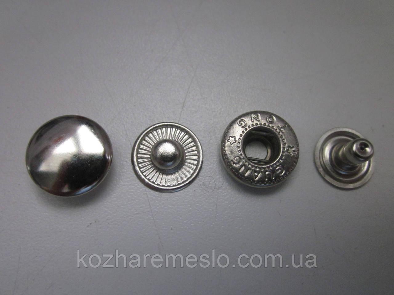 Кнопка альфа 12,5мм никель