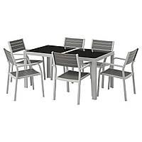 SJÄLLAND Стол+6 стульев с podłok., на зов.