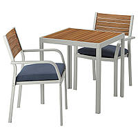 SJÄLLAND Стол + 2 стула с подкл, мебель