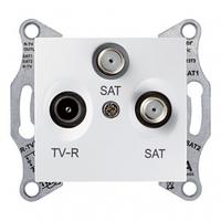 Розетка ТВ-R-SAT проходная 4 дБ Белый Sedna Schneider, SDN3501421
