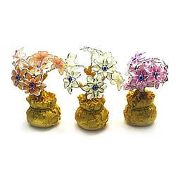 Цветы на мешке богатства (20х8х8 см) ( 27868)