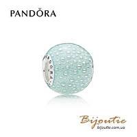 Pandora Шарм ГОЛУБОЕ ОЧАРОВАНИЕ #797091EN155 серебро 925 Пандора оригинал