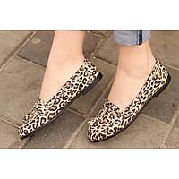 Лоферы кожаные леопардовые