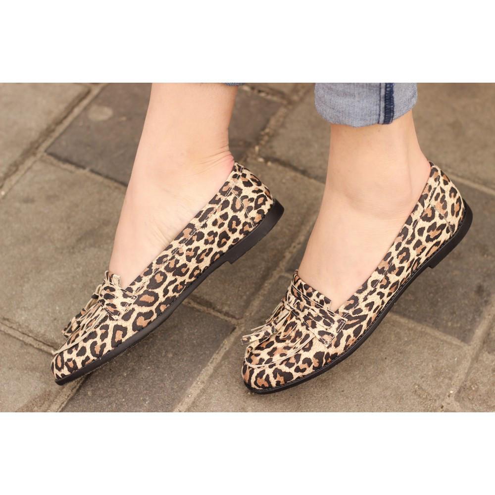 Лоферы кожаные леопардовые - Оптово - розничный Интернет-Магазин