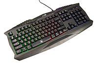 Клавиатура Genius Scorpion K220 Black, USB, игровая, 7 цветов подсветки