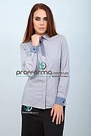 Рубашка женская для официанта или администратора с манжетами и длинным рукавом