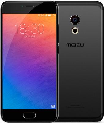 "Смартфон Meizu PRO 6S 4/64Gb Black, 12/5Мп, 10 ядер, 2sim, экран 5.2"" IPS, 3060mAh, GPS, 4G, Android 6"