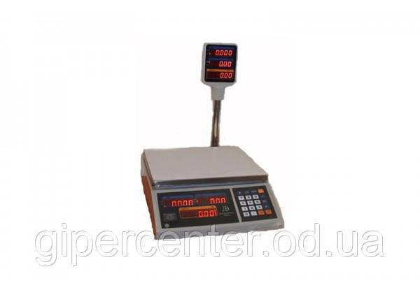 Весы торговые ВТЕ-Центровес-30Т2-ДВ-(СВ) до 30 кг