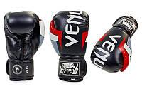 Боксерские перчатки для тайского бокса FLEX VENUM ELITE BO-5338-BKW