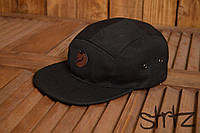 Реперка унисекс пятипанельная топ качество кепка лиса канкен Kanken черная реплика, фото 1